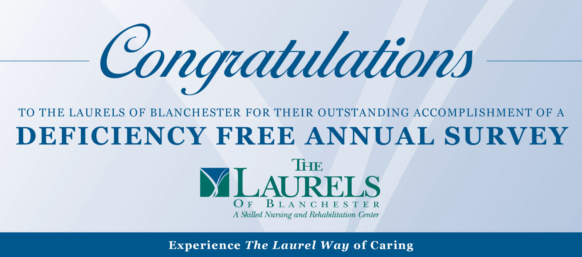 Deficiency Free Annual Survey